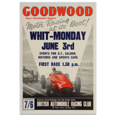 Goodwood Whit-Monday 1963 Poster