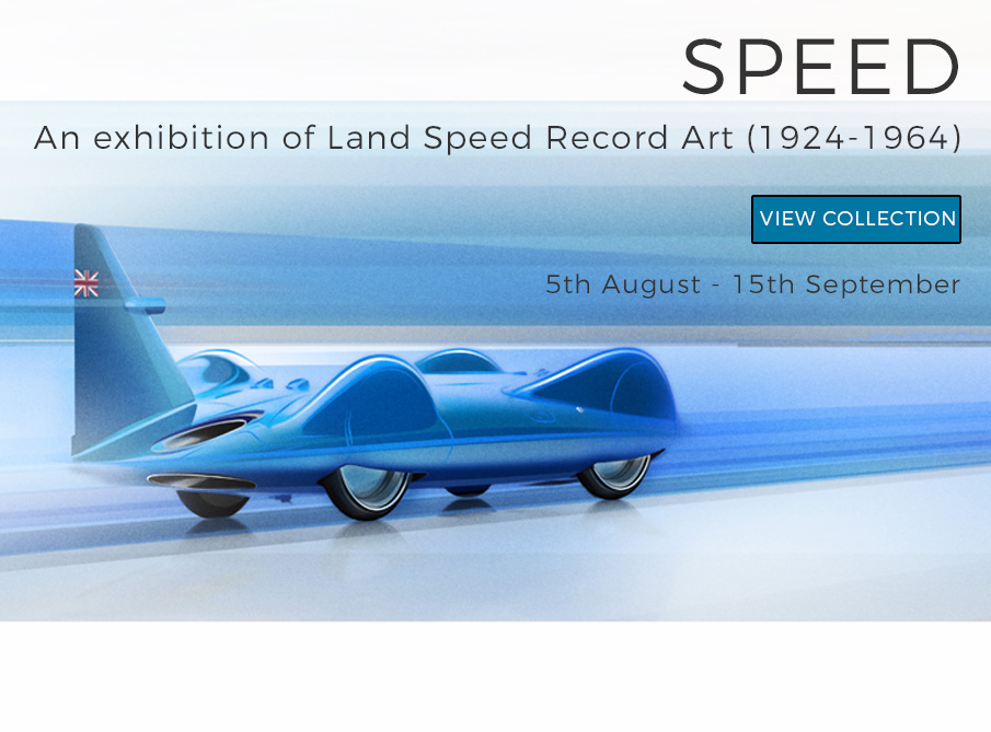 Land Speed Record >> Land Speed Record Art Exhibition Historic Car Art