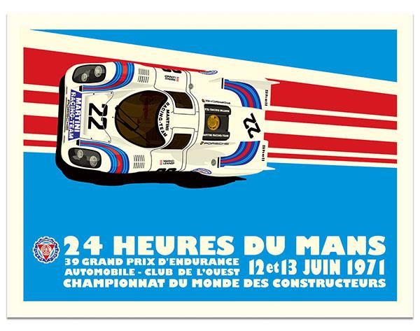 Martini Racing Porsche 917K Le Mans 1971 Poster