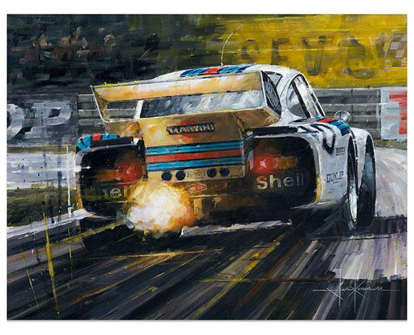 Martini In Motorsport Art Exhibition Historic Car Art - Exhibition car